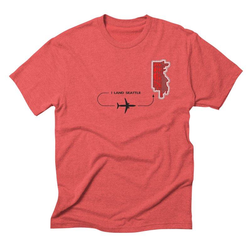 SEA i Land Men's Triblend T-Shirt by Half Moon Giraffe