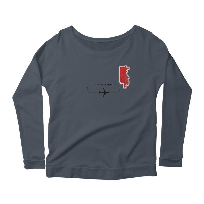SEA i Land Women's Scoop Neck Longsleeve T-Shirt by Half Moon Giraffe