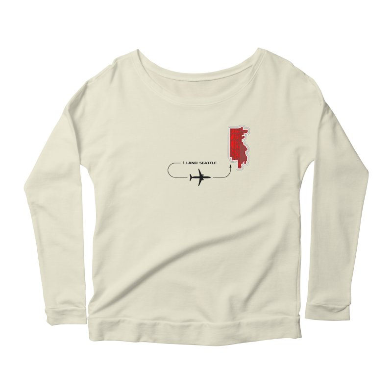 SEA i Land Women's Longsleeve Scoopneck  by Half Moon Giraffe