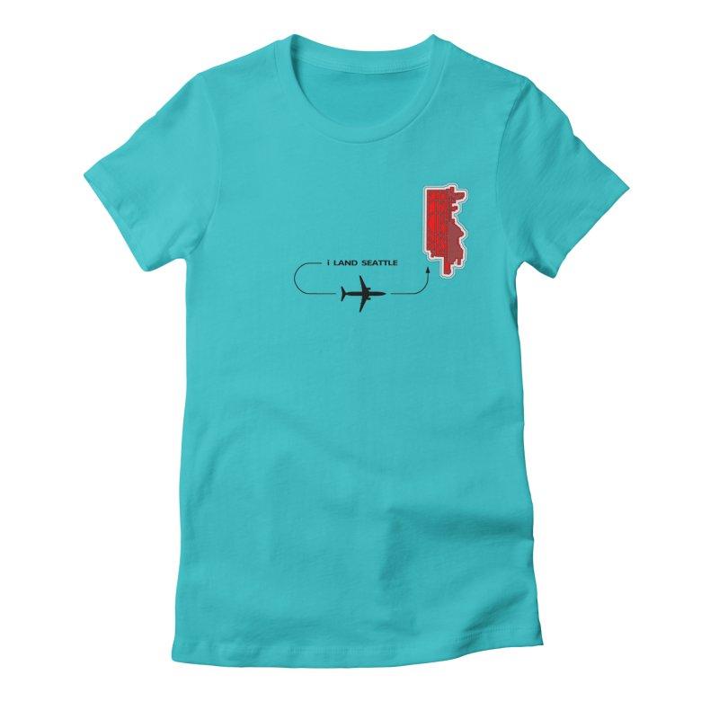 SEA i Land Women's Fitted T-Shirt by Half Moon Giraffe