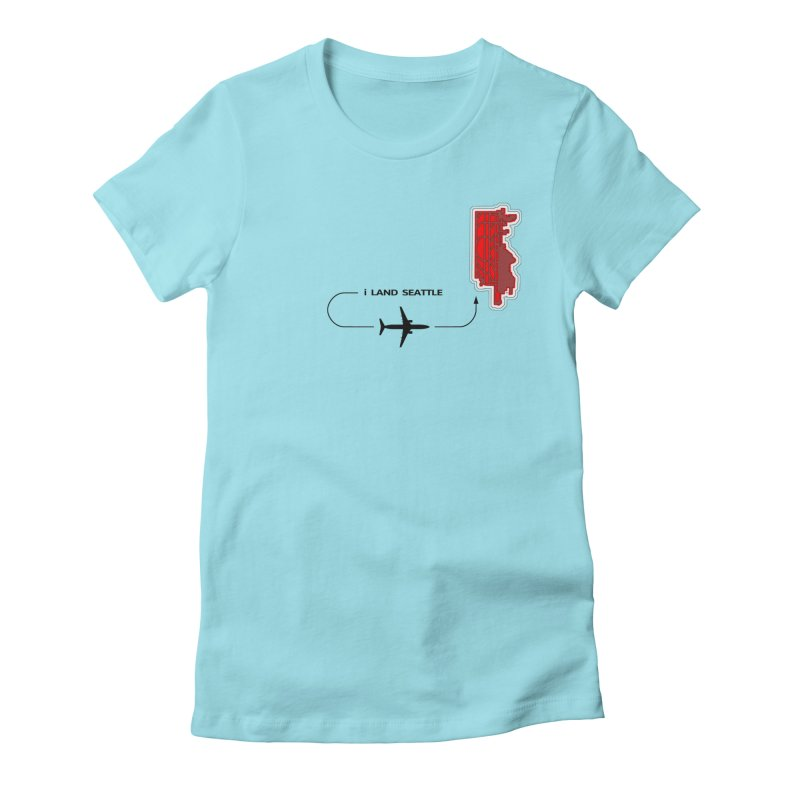 SEA i Land Women's Fitted T-Shirt by Half Moon Giraffe
