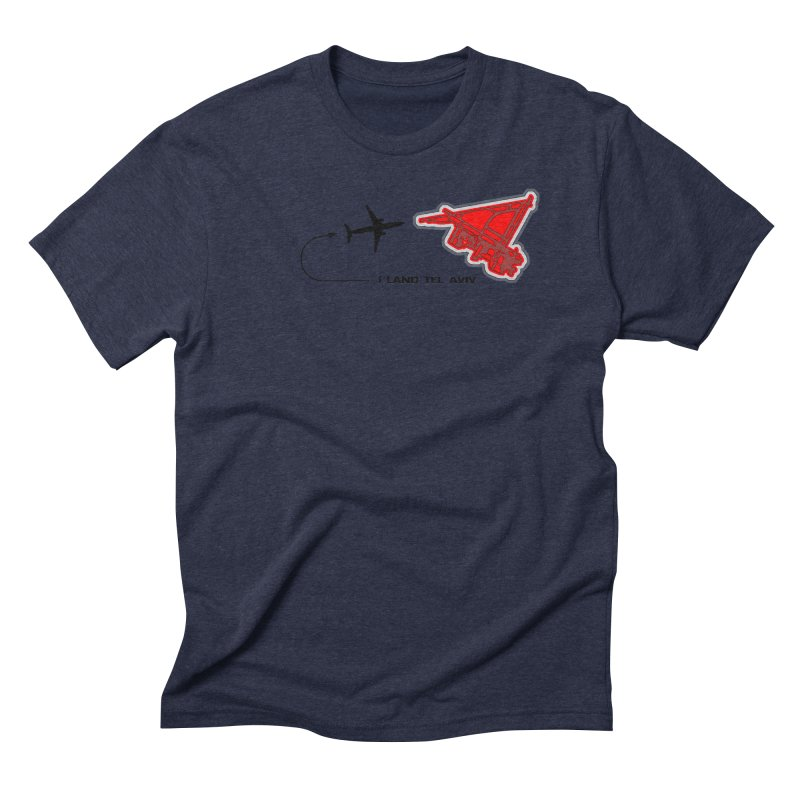 TLV i Land Men's Triblend T-shirt by Half Moon Giraffe