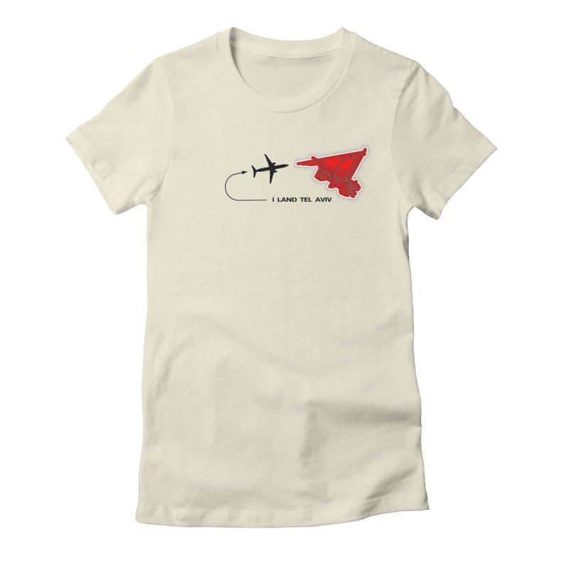 TLV i Land Women's Fitted T-Shirt by Half Moon Giraffe