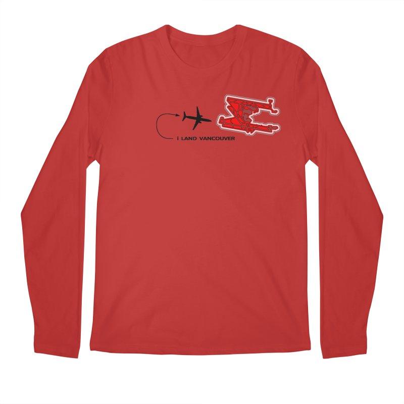 YVR i Land Men's Regular Longsleeve T-Shirt by Half Moon Giraffe