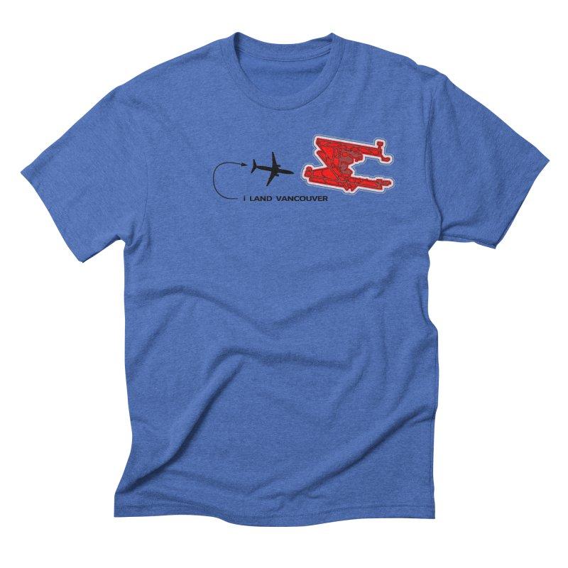 YVR i Land Men's Triblend T-Shirt by Half Moon Giraffe