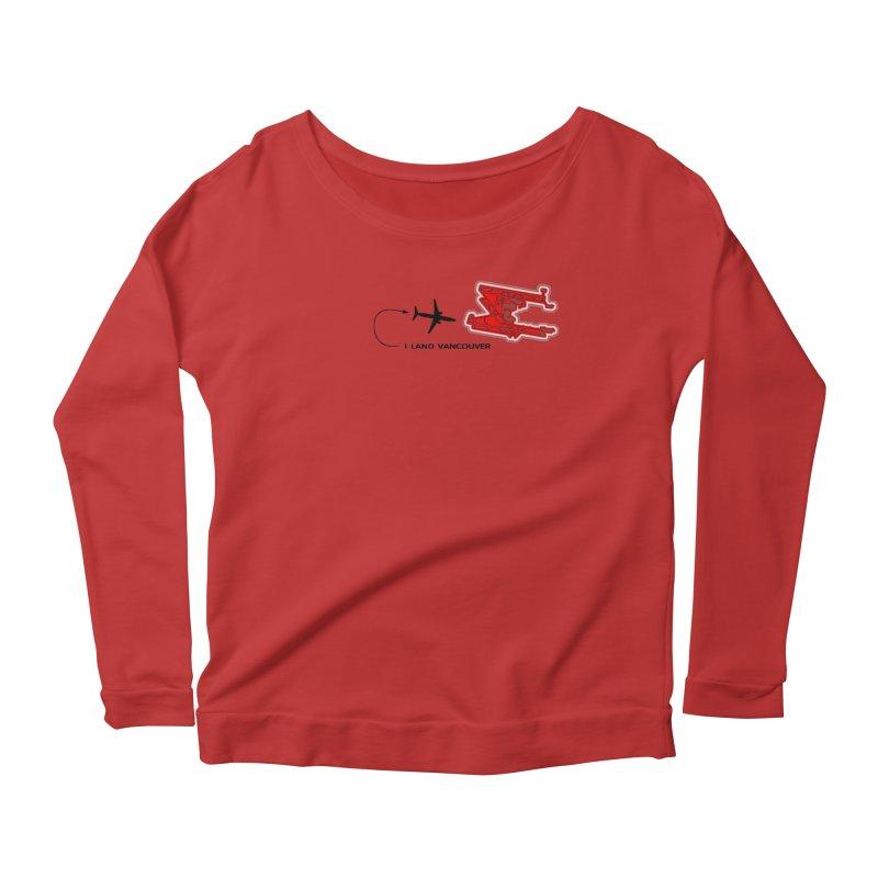 YVR i Land Women's Scoop Neck Longsleeve T-Shirt by Half Moon Giraffe