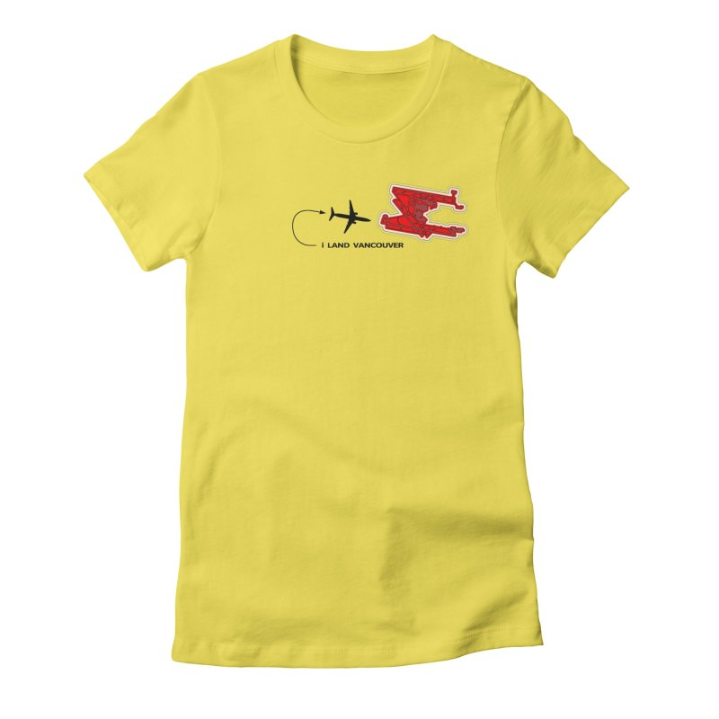 YVR i Land Women's Fitted T-Shirt by Half Moon Giraffe