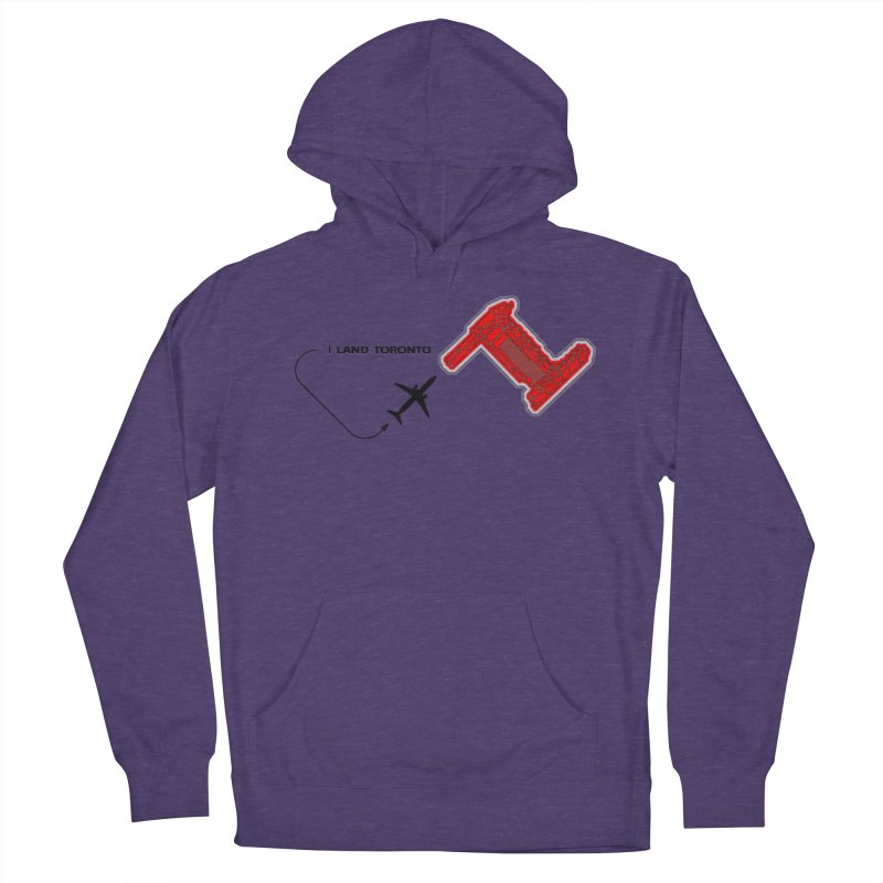YYZ i Land Women's French Terry Pullover Hoody by Half Moon Giraffe