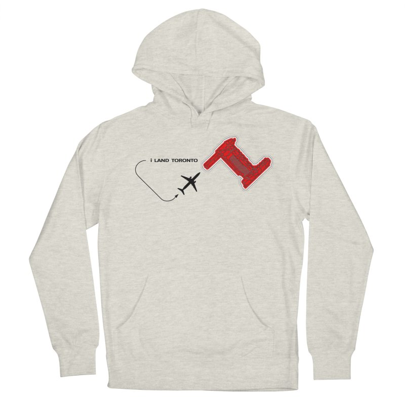 YYZ i Land Men's French Terry Pullover Hoody by Half Moon Giraffe