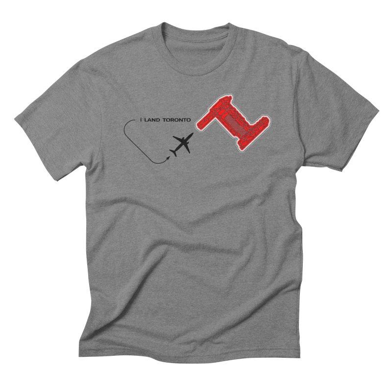 YYZ i Land Men's Triblend T-Shirt by Half Moon Giraffe