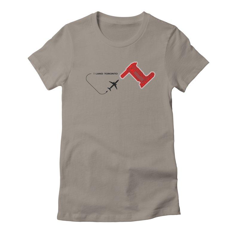 i Land YYZ Women's Fitted T-Shirt by Half Moon Giraffe