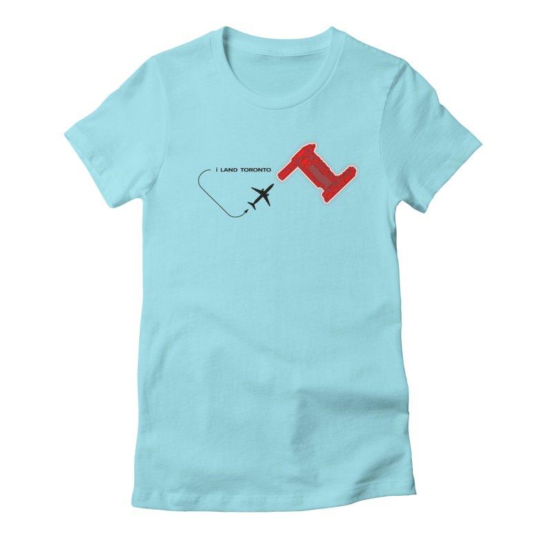 YYZ i Land Women's Fitted T-Shirt by Half Moon Giraffe