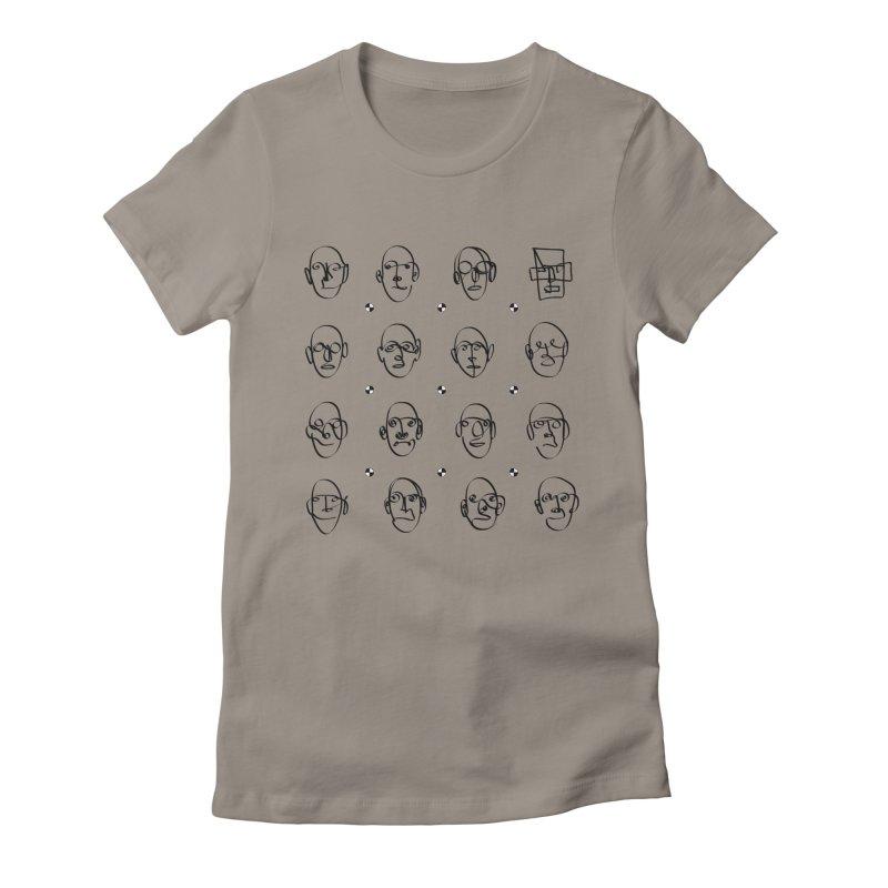 Face It - Homme Women's Fitted T-Shirt by Half Moon Giraffe