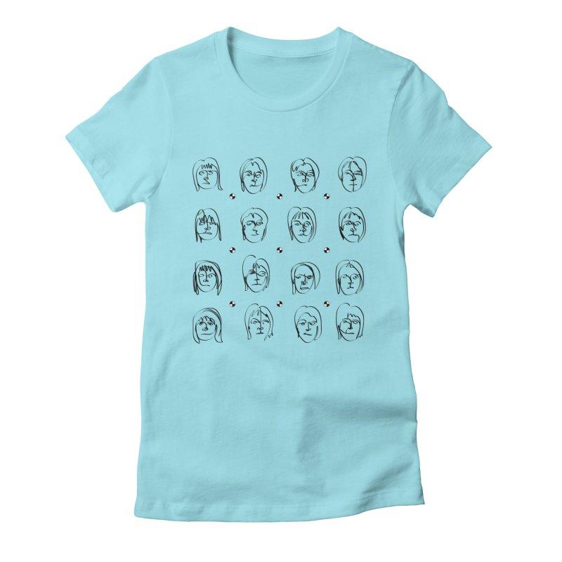 Face It - Femme Women's Fitted T-Shirt by Half Moon Giraffe
