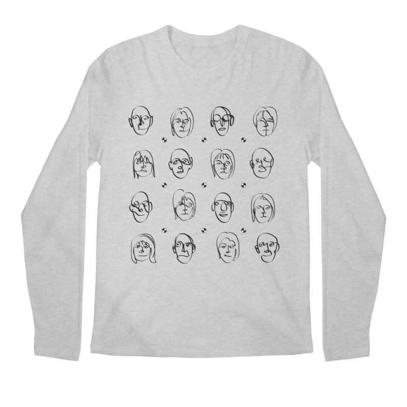 Face It - BiSex Men's Regular Longsleeve T-Shirt by Half Moon Giraffe