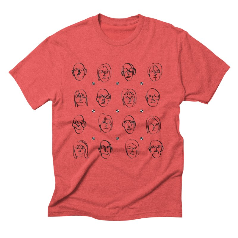 Face It - BiSex Men's Triblend T-shirt by Half Moon Giraffe