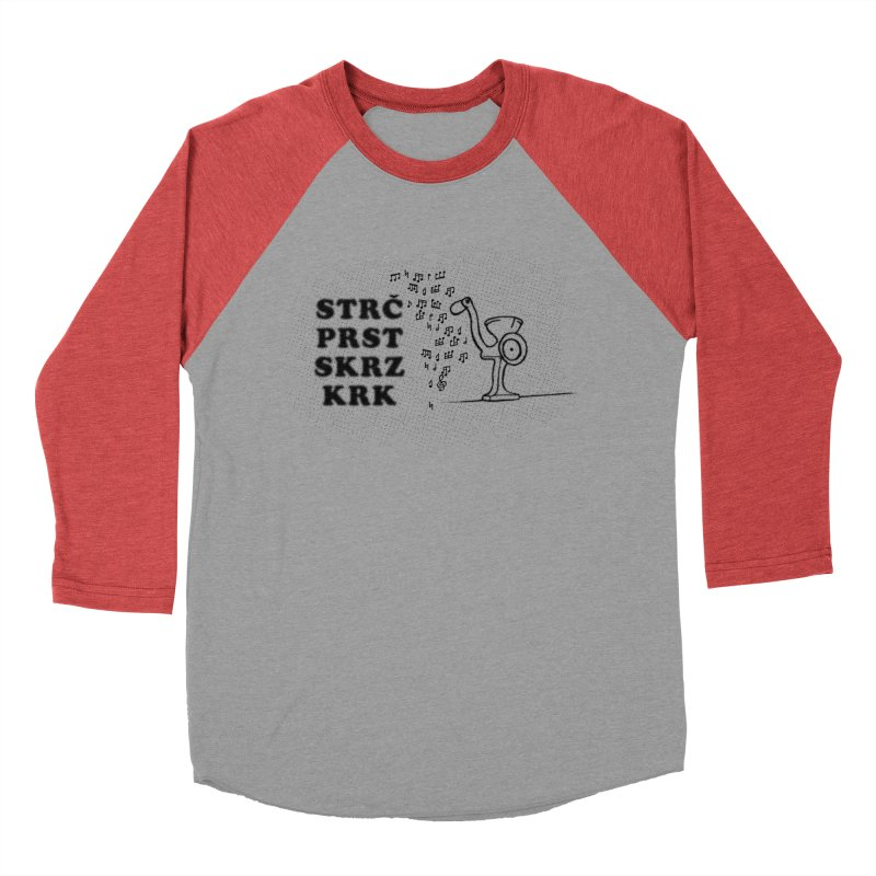 The Grind Men's Baseball Triblend Longsleeve T-Shirt by Half Moon Giraffe