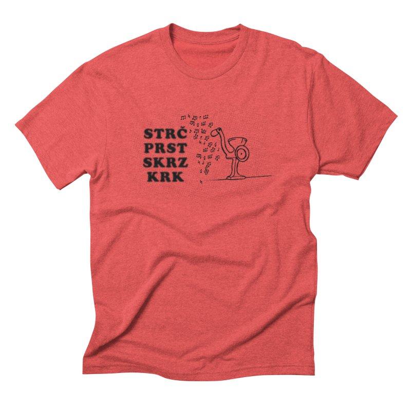 The Grind Men's Triblend T-shirt by Half Moon Giraffe