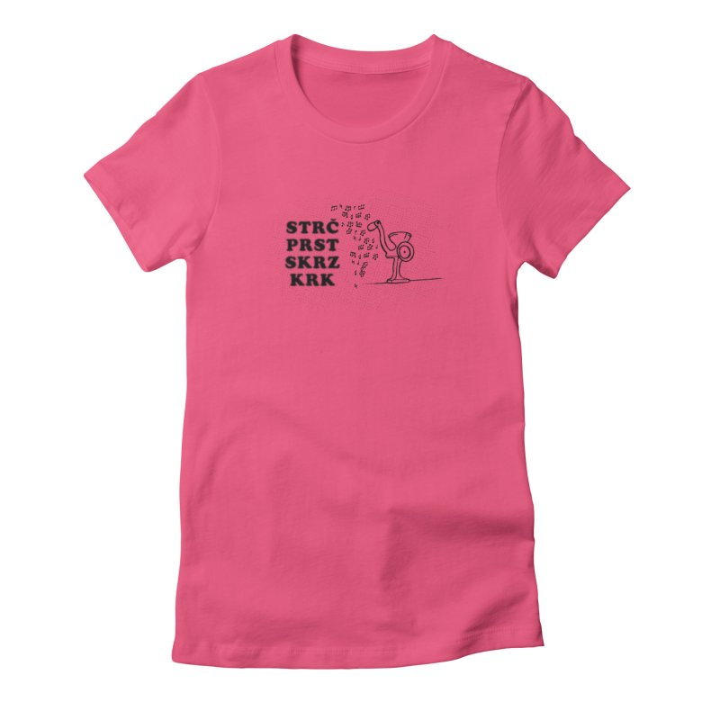The Grind Women's Fitted T-Shirt by Half Moon Giraffe