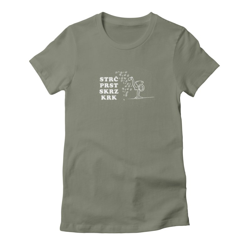 The Dark Grind Women's Fitted T-Shirt by Half Moon Giraffe