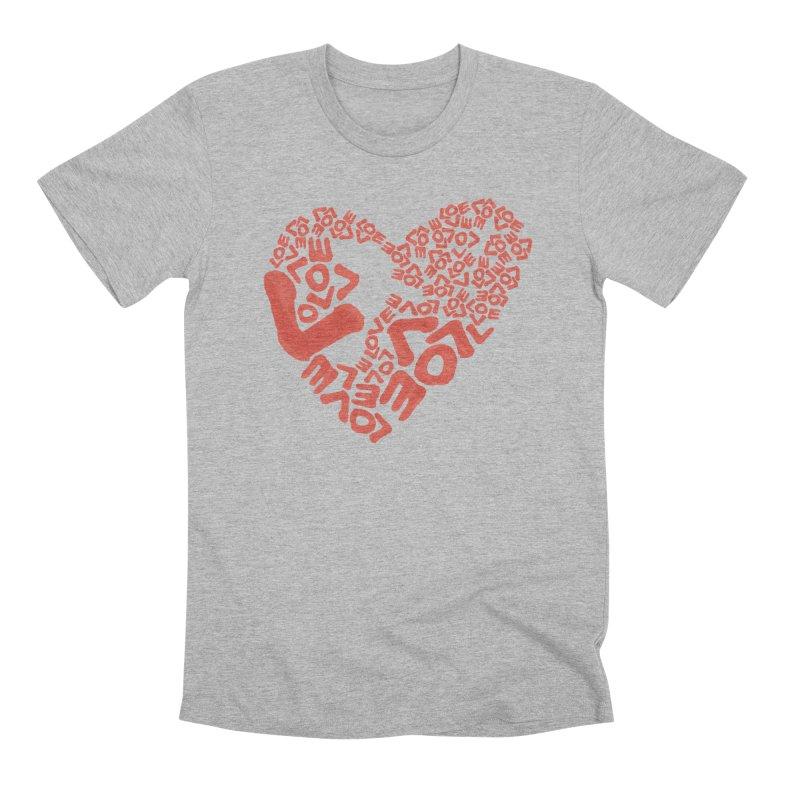 L- for CORAL Men's Premium T-Shirt by Half Moon Giraffe