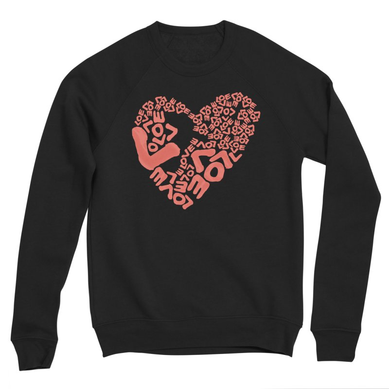 L- for CORAL Men's Sponge Fleece Sweatshirt by Half Moon Giraffe