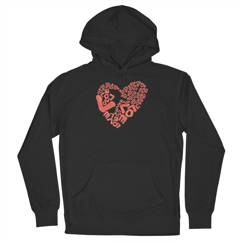 L- for CORAL Women's Pullover Hoody by Half Moon Giraffe