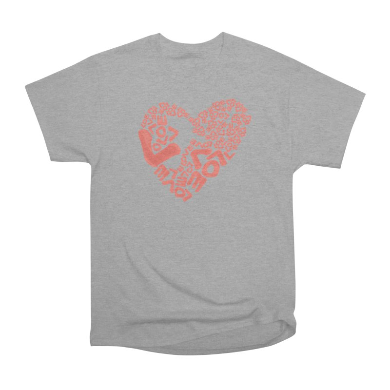 L- for CORAL Men's Heavyweight T-Shirt by Half Moon Giraffe