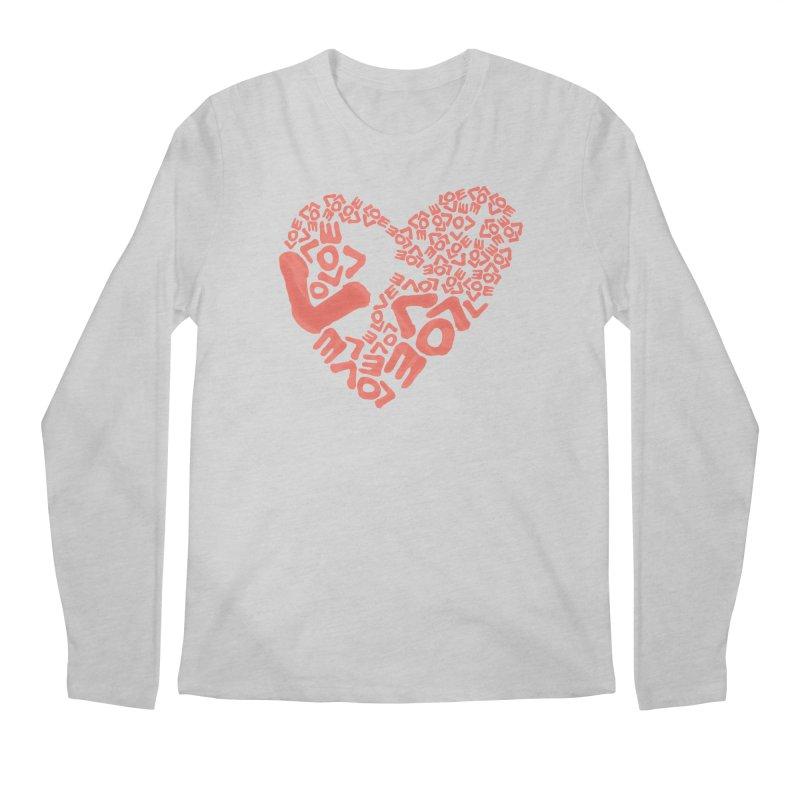L- for CORAL Men's Regular Longsleeve T-Shirt by Half Moon Giraffe