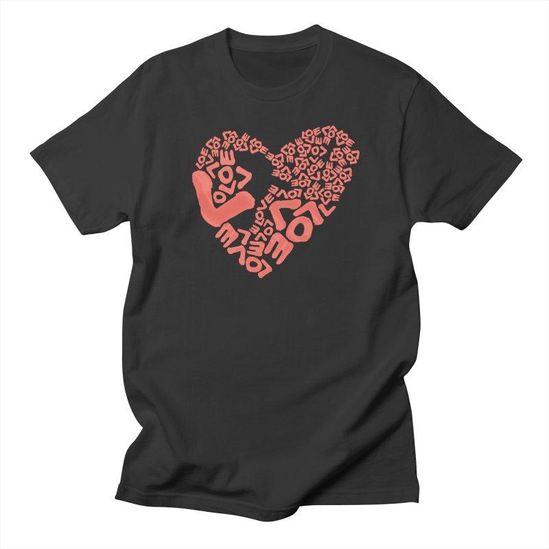 L- for CORAL Women's Regular Unisex T-Shirt by Half Moon Giraffe
