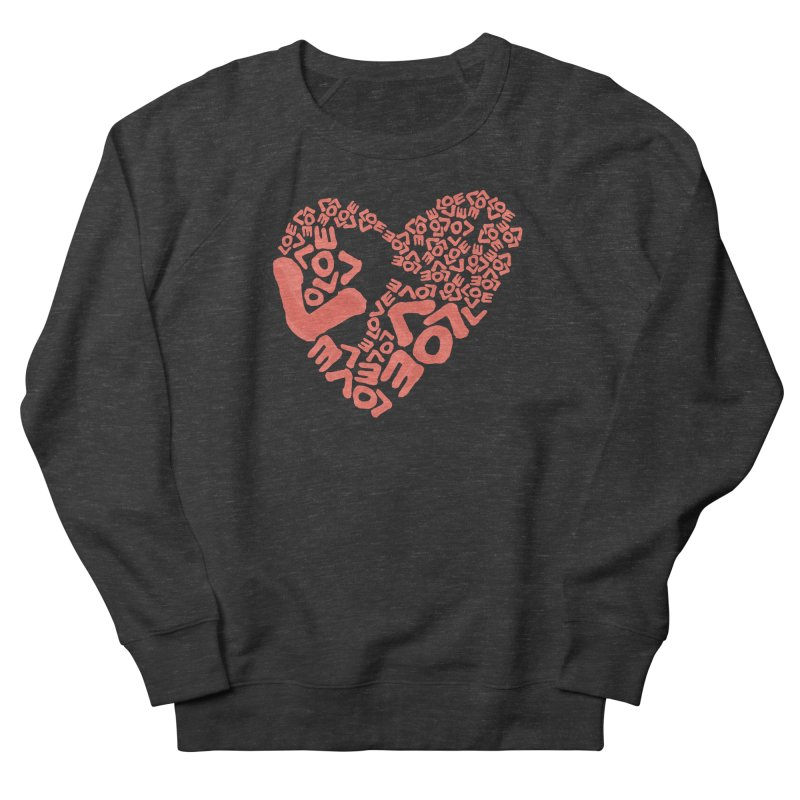 L- for CORAL Men's French Terry Sweatshirt by Half Moon Giraffe