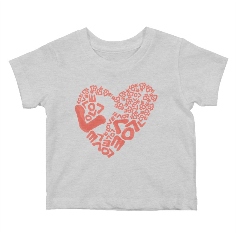 L- for CORAL Kids Baby T-Shirt by Half Moon Giraffe