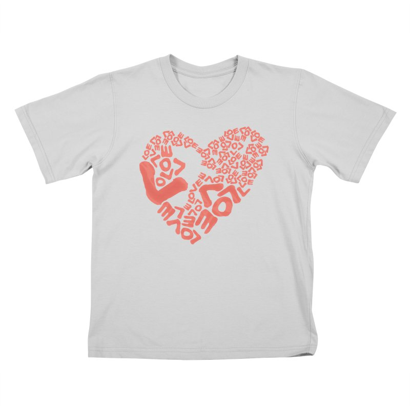 L- for CORAL Kids T-Shirt by Half Moon Giraffe