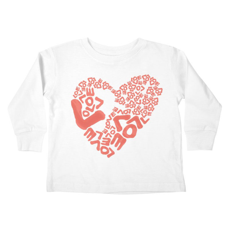 L- for CORAL Kids Toddler Longsleeve T-Shirt by Half Moon Giraffe