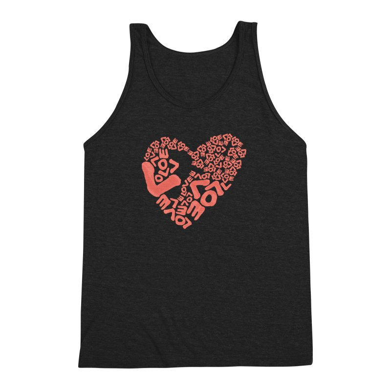 L- for CORAL Men's Tank by Half Moon Giraffe