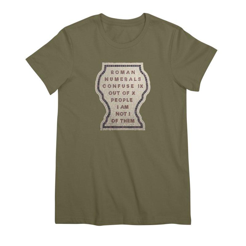 X = IX + I: Roman Numerals Women's Premium T-Shirt by Half Moon Giraffe