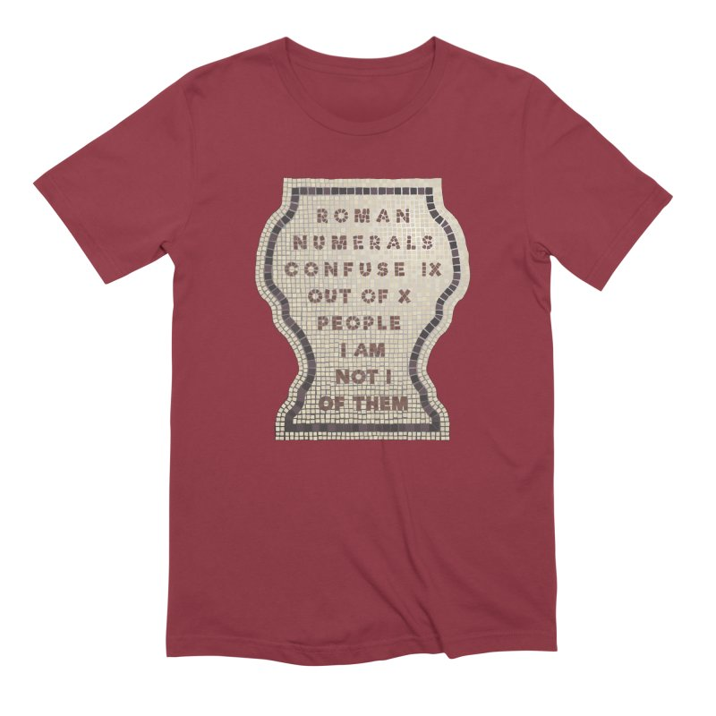 X = IX + I: Roman Numerals Men's Extra Soft T-Shirt by Half Moon Giraffe