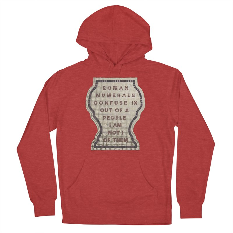 X = IX + I: Roman Numerals Men's French Terry Pullover Hoody by Half Moon Giraffe