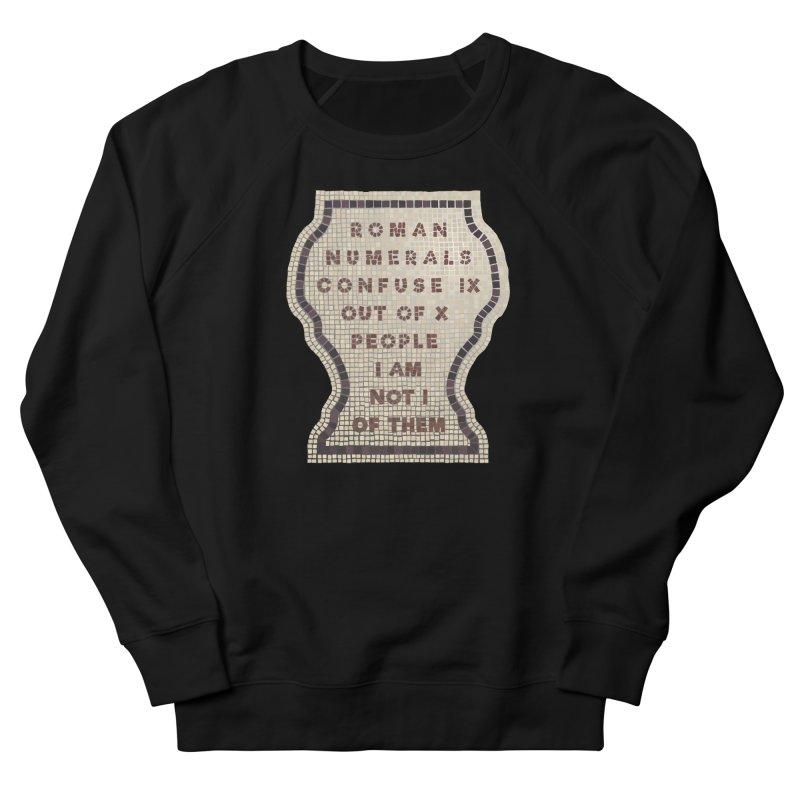 X = IX + I Women's French Terry Sweatshirt by Half Moon Giraffe
