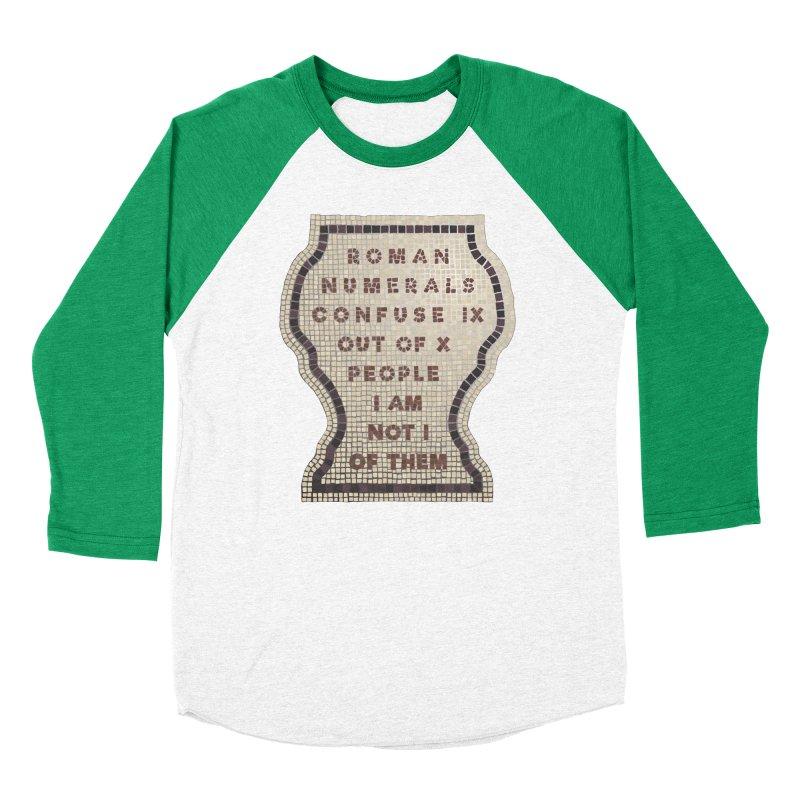 X = IX + I: Roman Numerals Women's Baseball Triblend Longsleeve T-Shirt by Half Moon Giraffe