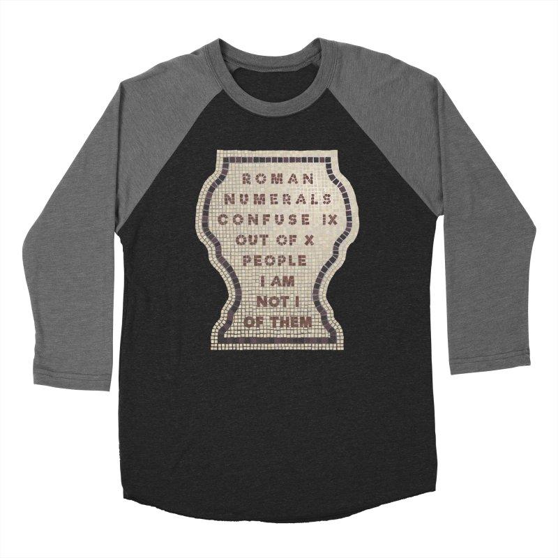 X = IX + I Men's Baseball Triblend Longsleeve T-Shirt by Half Moon Giraffe