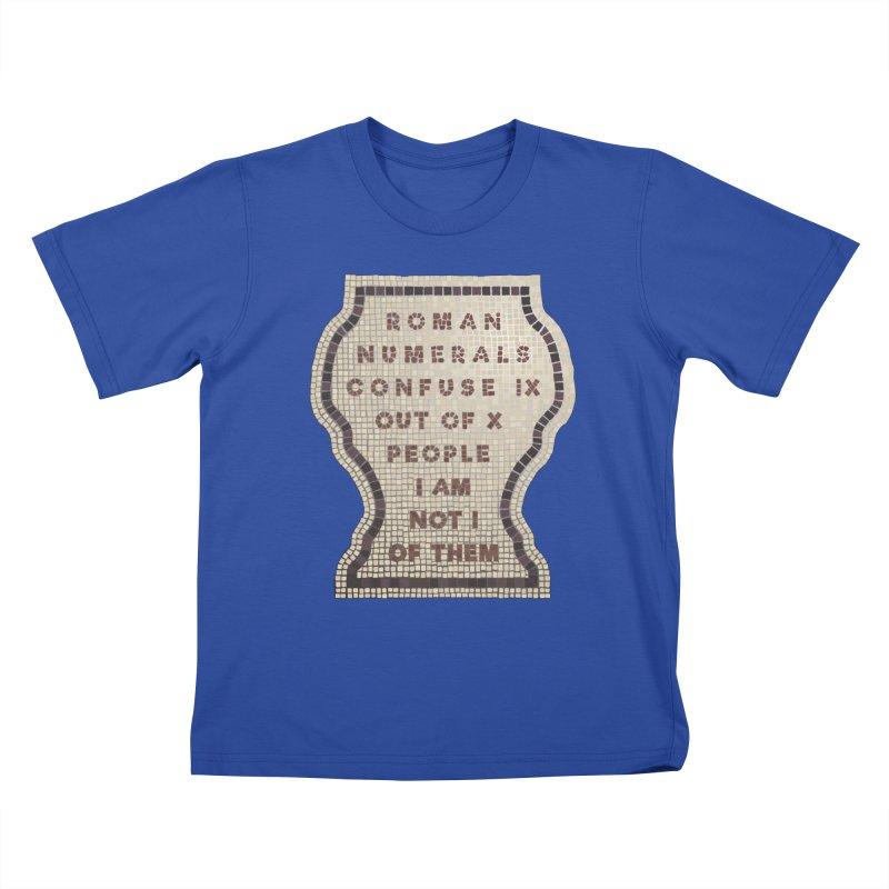 X = IX + I: Roman Numerals Kids T-Shirt by Half Moon Giraffe