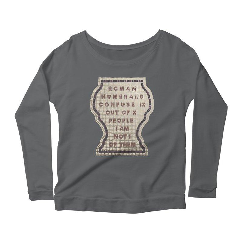 X = IX + I Women's Scoop Neck Longsleeve T-Shirt by Half Moon Giraffe