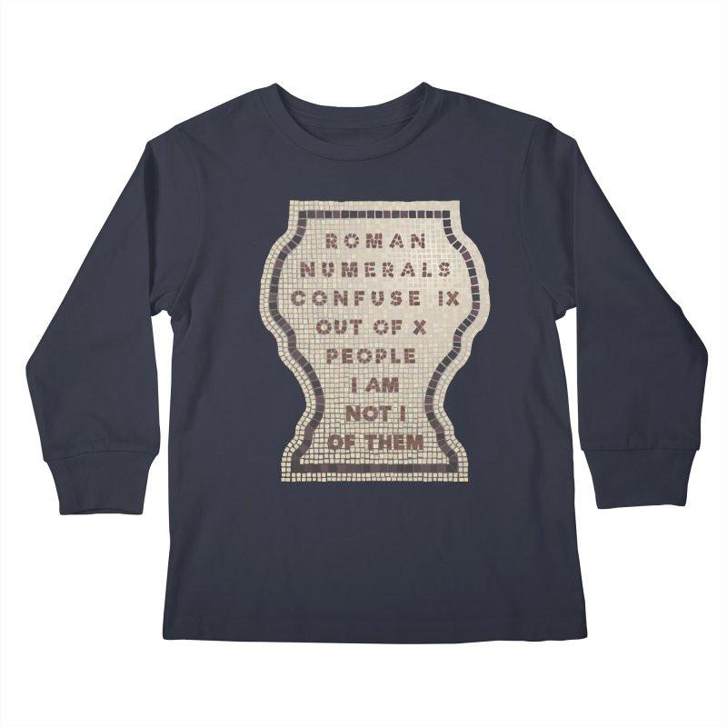 X = IX + I Kids Longsleeve T-Shirt by Half Moon Giraffe