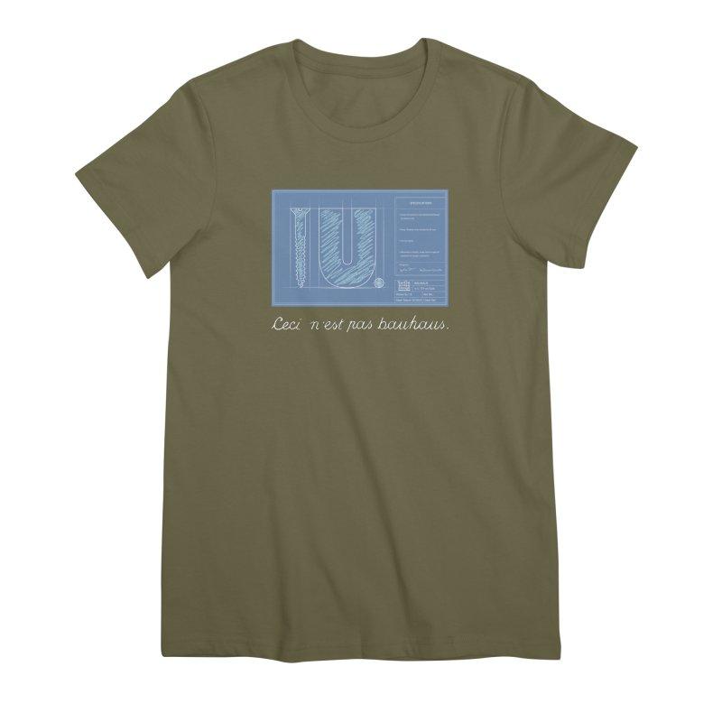 To The Point Women's Premium T-Shirt by Half Moon Giraffe