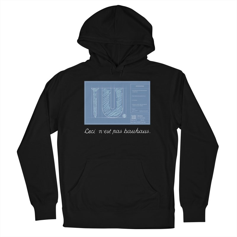 To The Point Men's French Terry Pullover Hoody by Half Moon Giraffe