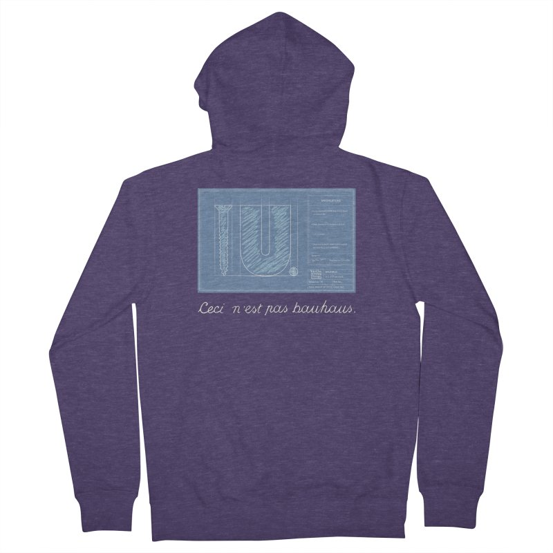 To The Point Men's French Terry Zip-Up Hoody by Half Moon Giraffe