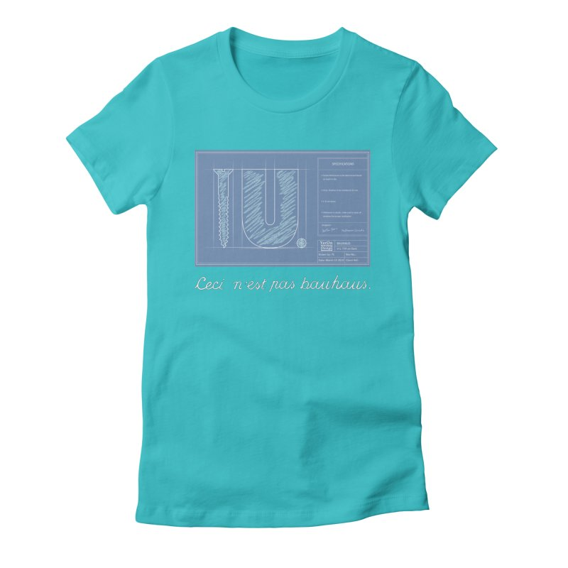 To The Point Women's Fitted T-Shirt by Half Moon Giraffe