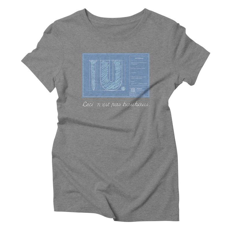 To The Point Women's Triblend T-Shirt by Half Moon Giraffe