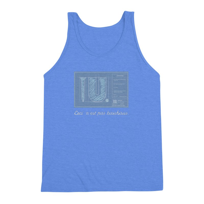 To The Point Men's Triblend Tank by Half Moon Giraffe